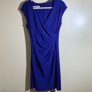 Evan Picone   Ruched Faux Wrap Sleeveless dress